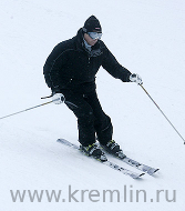 [Photo of Vladimir Putin at the Krasnaya Polyana ski resort.  Photo provided by the website of the President of the Russian Federation under an attribution license.]