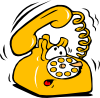[clip-art of a telephone]