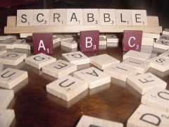 [stock photo of Scrabble tiles]